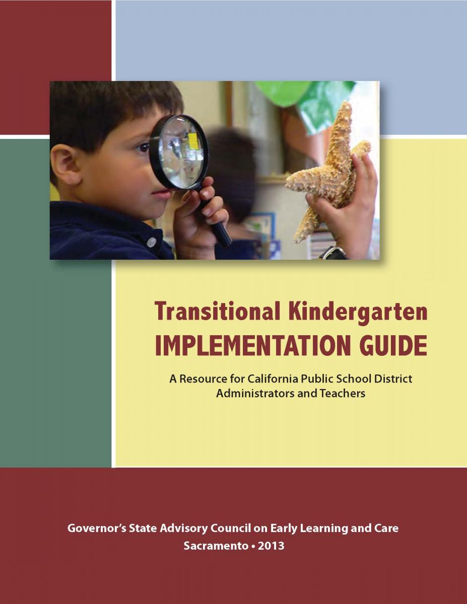 Transitional Kindergarten Implementation Guide